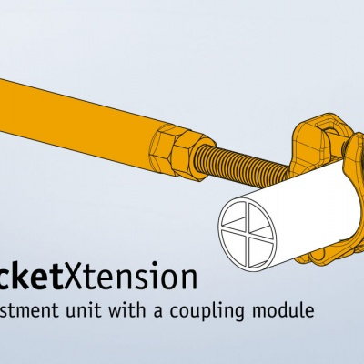 rocketXtension Adjustment unit with a coupling module